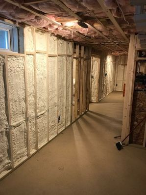 Woburn, MA Spray Foam in Basement (2)
